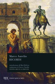 I ricordi - Marco Aurelio - copertina