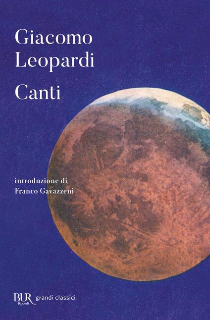 I canti - Giacomo Leopardi - copertina