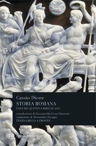 Storia romana. Testo greco a fronte. Vol. 5: Libri 52-56. - Cassio Dione - copertina