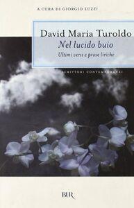 Libro Nel lucido buio David M. Turoldo