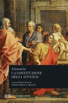 La costituzione degli ateniesi - Aristotele - copertina