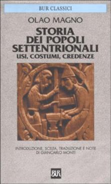 Storia dei popoli settentrionali. Usi, costumi, credenze - Olao Magno - copertina
