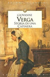 Libro Storia di una capinera Giovanni Verga