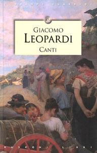Foto Cover di Canti, Libro di Giacomo Leopardi, edito da Rusconi Libri