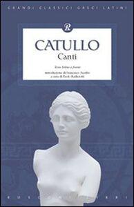 Libro Canti G. Valerio Catullo