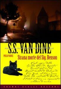 Foto Cover di Strana morte del Sig. Benson, Libro di S. S. Van Dine, edito da Rusconi Libri