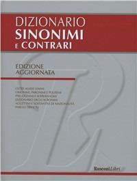 Dizionario dei sinonimi e contrari