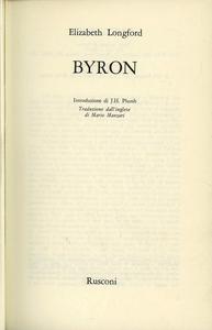 Libro Byron Elizabeth Longford