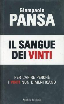 Il sangue dei vinti - Giampaolo Pansa - copertina