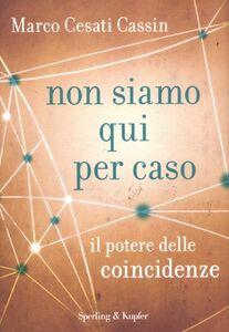 Foto Cover di Non siamo qui per caso. Il potere delle coincidenze, Libro di Marco Cesati Cassin, edito da Sperling & Kupfer