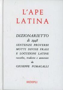 Libro L' ape latina Giuseppe Fumagalli
