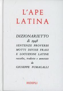 L' ape latina - Giuseppe Fumagalli - copertina