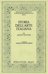 Libro Nuovi indici generali e note di aggiornamento alla Storia dell'arte italiana di Adolfo Venturi F. Rossetti , S. Rossetti