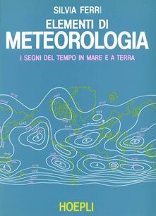 Elementi di meteorologia - S. Ferri - copertina