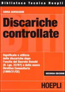 Foto Cover di Discariche controllate, Libro di Sonia Gervasoni, edito da Hoepli