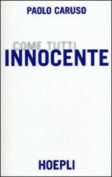 Innocente - Paolo Caruso - copertina