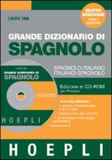 Camfeed.it Grande dizionario di spagnolo. Spagnolo-italiano, italiano-spagnolo. CD-ROM Image
