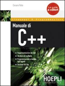 Libro Manuale di C++ Cesare Rota