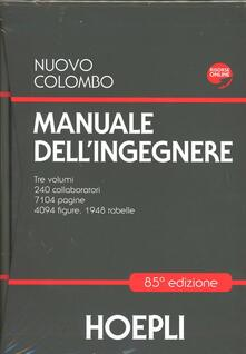 Nuovo Colombo. Manuale dell'ingegnere - Giuseppe Colombo - copertina