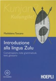 Introduzione alla lingua zulu - Maddalena Toscano - copertina