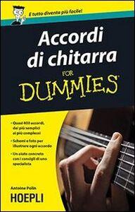 Libro Accordi di chitarra For Dummies Antoine Polin