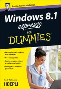 Libro Windows 8.1 espresso For Dummies Andy Rathbone
