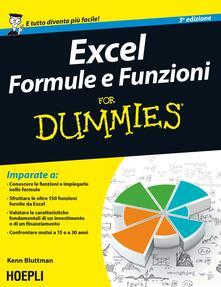 Nicocaradonna.it Excel. Formule e funzioni For Dummies Image