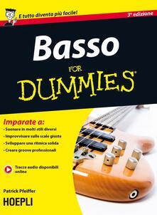 Basso For Dummies - Patrick Pfeiffer - copertina