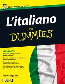 L' italiano For Dummies - Antonio Zoppetti - copertina
