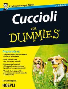 Cuccioli For Dummies - Sarah Hodgson - copertina