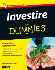 Libro Investire For Dummies Massimo Intropido
