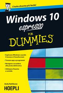 Libro Windows 10 espresso For Dummies Andy Rathbone