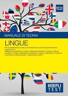 Vastese1902.it Hoepli Test. Lingue. Manuale di teoria. Per la preparazione ai test di ammissione ai corsi di laurea triennale in lingue... Image