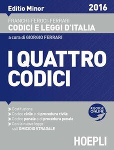 Libro I quattro codici. Ediz. minore Virgilio Feroci , Santo Ferrari , Luigi Franchi