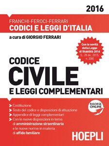 Foto Cover di Codice civile e leggi complementari, Libro di AA.VV edito da Hoepli