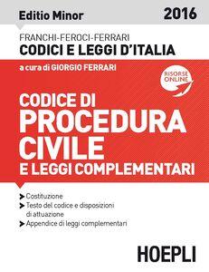 Foto Cover di Codice di procedura civile e leggi complementari. Ediz. minore, Libro di  edito da Hoepli