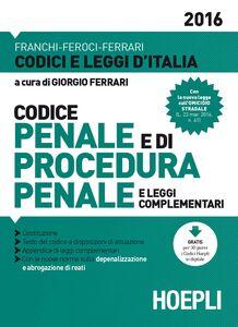 Libro Codice penale e di procedura penale