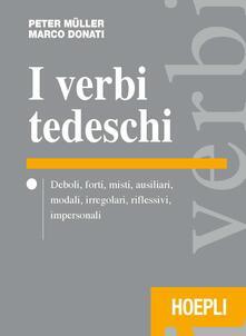 I verbi tedeschi - Peter Müller,Marco Donati - copertina