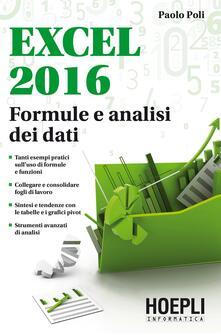 Cefalufilmfestival.it Excel 2016. Formule e analisi dei dati Image