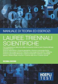 Hoepli Test. Manuale di teoria ed esercizi. Lauree triennali scientifiche - copertina