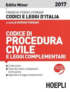 Codice di procedura civile e leggi complementari. Ediz. minore