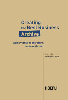 Creative the best business archive. Achieving a good return on investment - copertina
