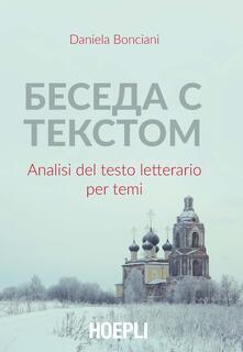 Beseda s tekstom. Analisi del testo letterario per temi - Daniela Bonciani - copertina