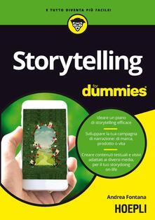 Writersfactory.it Storytelling for dummies. Ideare un piano di storytelling efficace. Sviluppare la tua campagna di narrazione: di marca, prodotto o vita. Creare contenuti testuali e visivi, adattati ai diversi media, per il tuo storydoing on-life Image