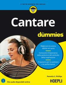 Cantare for dummies - Pamelia S. Phillips - copertina