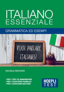 Promoartpalermo.it Italiano essenziale. Grammatica ed esempi Image