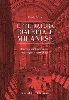 Daddyswing.es Letteratura dialettale milanese. Itinerario antologico-critico dalle origini ai nostri giorni Image