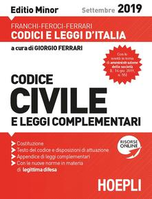 Grandtoureventi.it Codice civile e leggi complementari. Ediz. minore Image