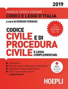 Codice civile e di procedura civile e leggi complementari - copertina