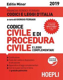 Codice civile e di procedura civile e leggi complementari. Ediz. minore - copertina